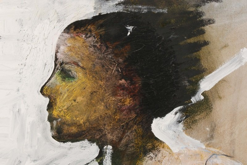 """T. L. Lange, """"Nude Woman In Profile"""", Mixed Media - 2"""