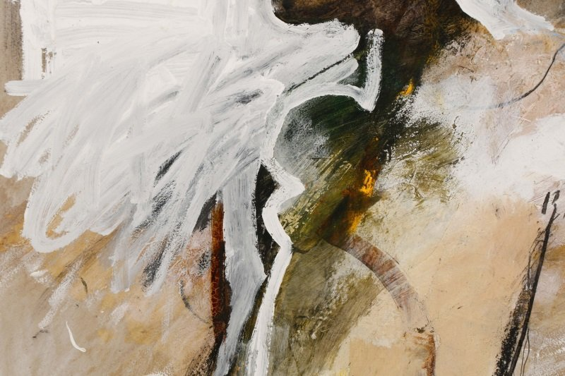 """T. L. Lange, """"Nude Woman In Profile"""", Mixed Media - 3"""