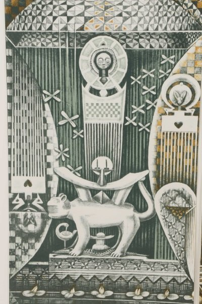 "John T. Biggers, ""Family Ark"", Lithograph Triptych - 5"