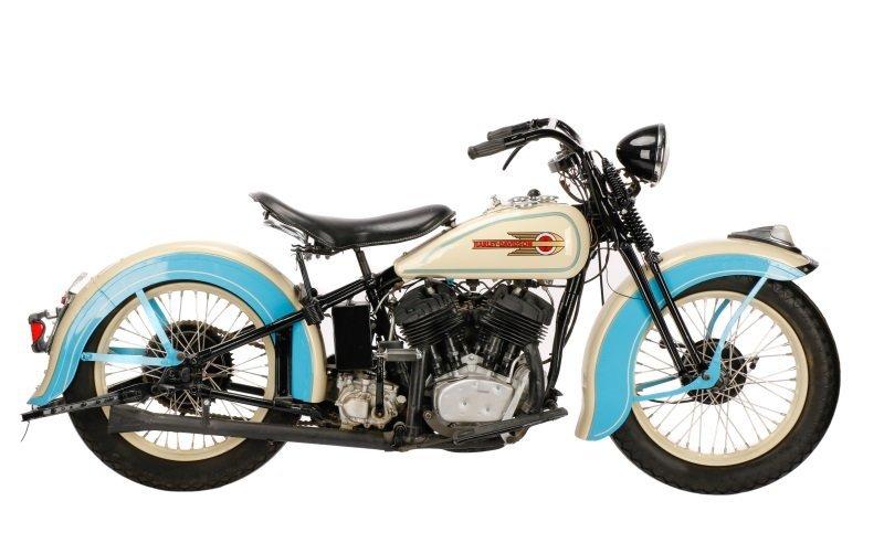1936 Harley Davidson VLH Flathead Motorcycle