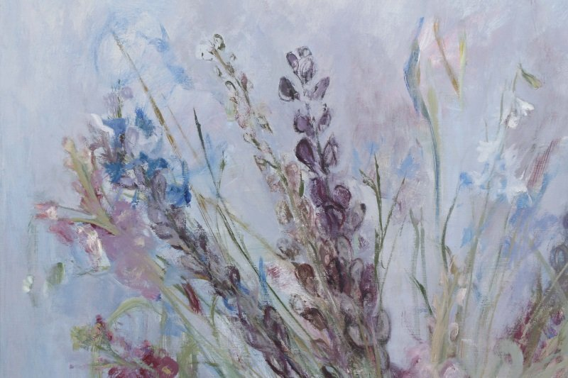 "Haidee Becker, ""Delphinium, Aconite And Stock"" - 4"