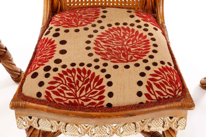Set of 4 Mackenzie-Childs Wicker Side Chairs - 3