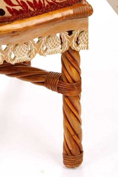 Set of 4 Mackenzie-Childs Wicker Side Chairs - 4