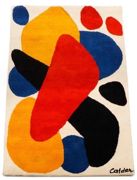 After Alexander Calder 'Boomerang' Wool Rug
