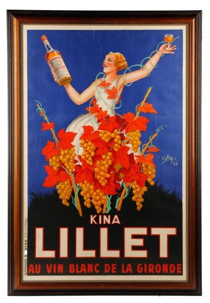 Vintage French Lillet Advertising Poster, 1930s