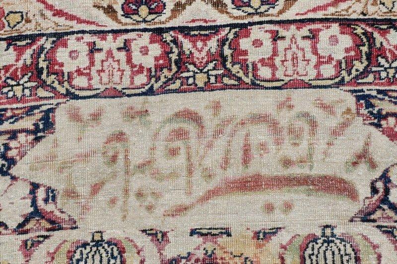 "Signed Hand Woven Kerman Lavar Rug 8' 10"" x 13' - 2"