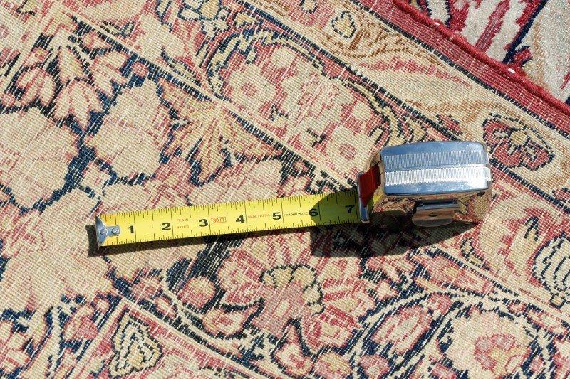 "Signed Hand Woven Kerman Lavar Rug 8' 10"" x 13' - 5"