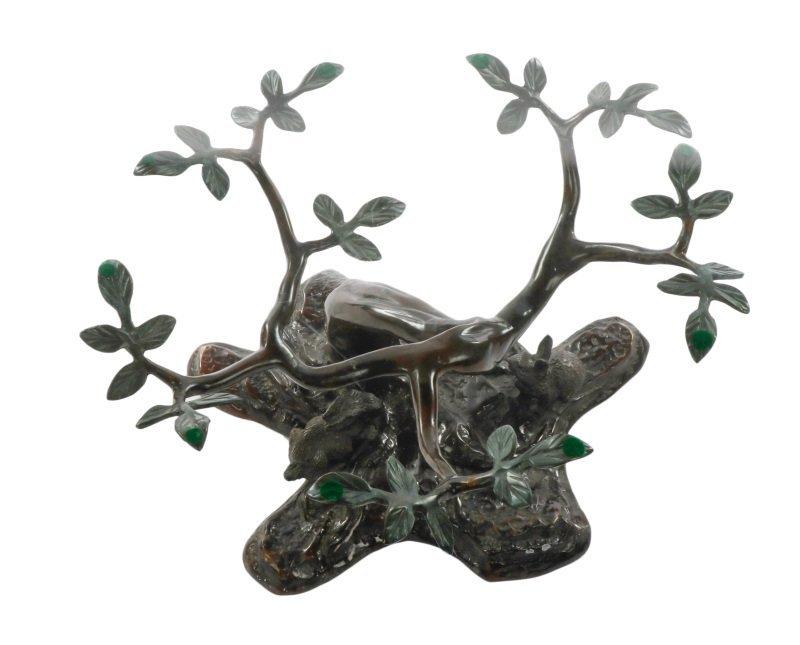 Bronze & Glass Sculptural Coffee Table, Rabbit - 4