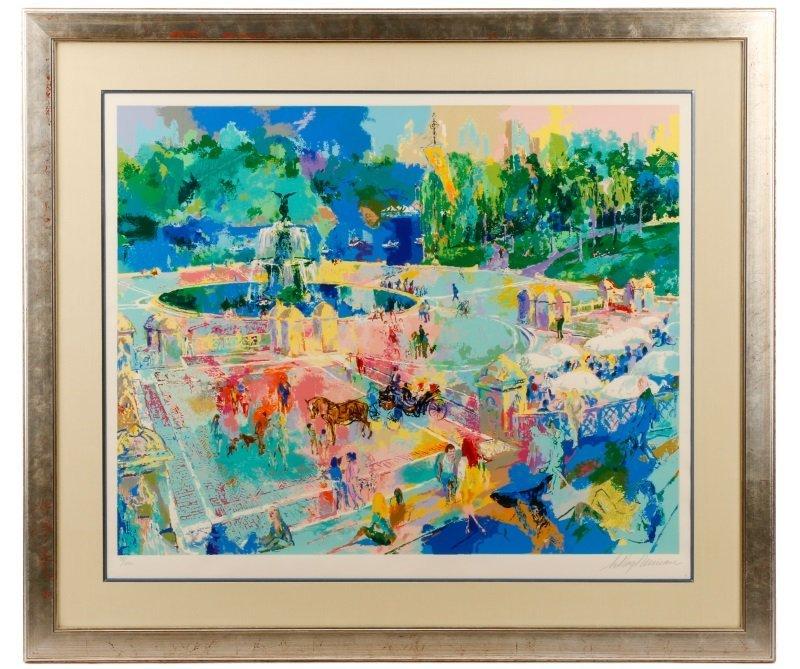 """LeRoy Neiman, """"Bethesda Fountain, Central Park"""""""