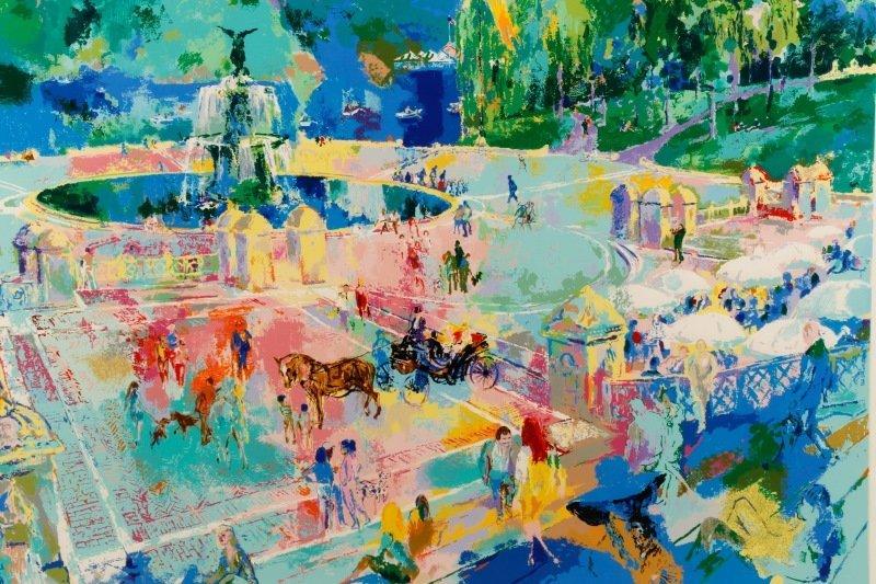"""LeRoy Neiman, """"Bethesda Fountain, Central Park"""" - 2"""