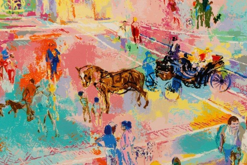 """LeRoy Neiman, """"Bethesda Fountain, Central Park"""" - 4"""