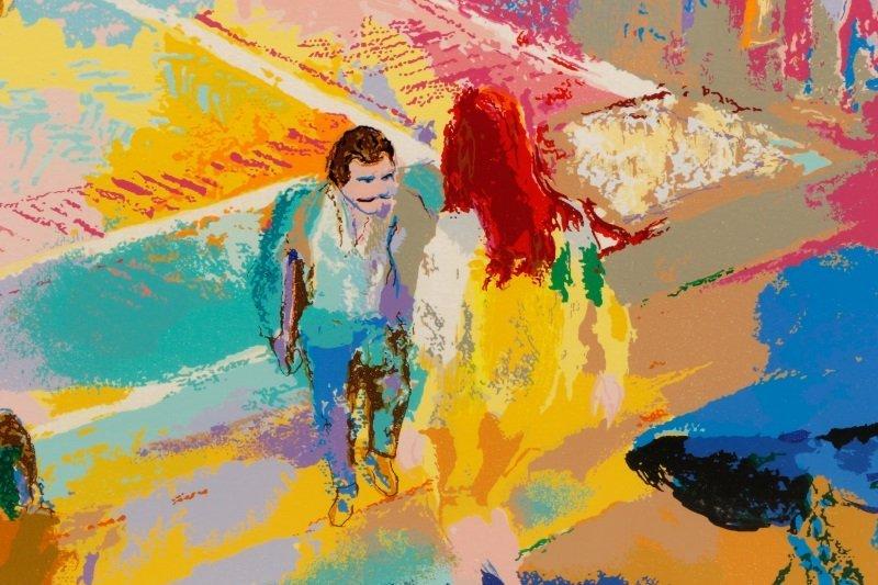 """LeRoy Neiman, """"Bethesda Fountain, Central Park"""" - 5"""
