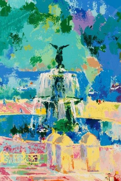 """LeRoy Neiman, """"Bethesda Fountain, Central Park"""" - 7"""