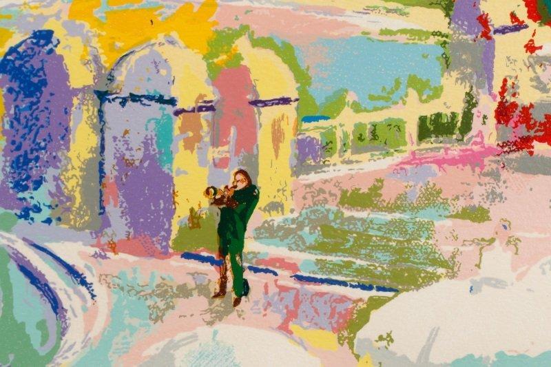 """LeRoy Neiman, """"Bethesda Fountain, Central Park"""" - 8"""