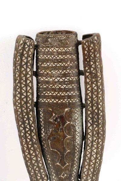 19th C. Tuareg Bronze Ceremonial Sword & Scabbard - 6