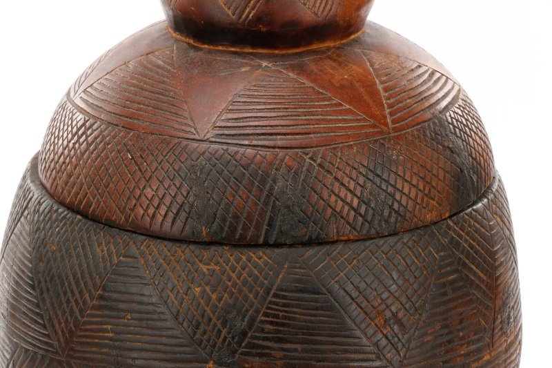 Dogon Carved Wood Medicine Pot in Three Sections - 5