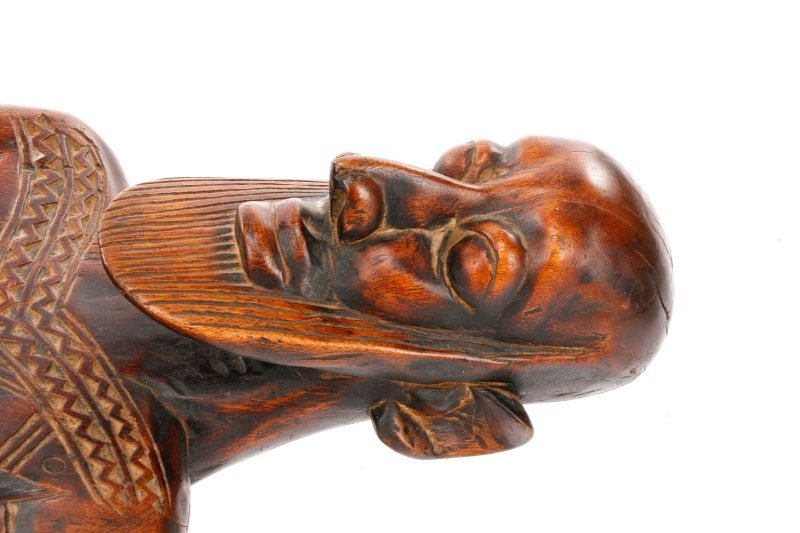 20th C. African Dogon Carved Wood Marriage Bench - 3