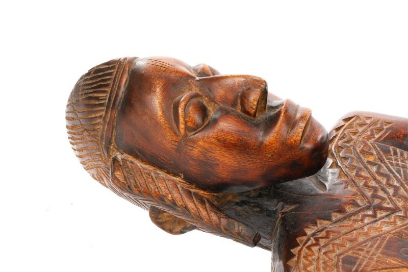 20th C. African Dogon Carved Wood Marriage Bench - 4