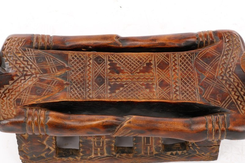 20th C. African Dogon Carved Wood Marriage Bench - 5