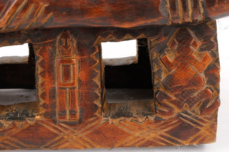 20th C. African Dogon Carved Wood Marriage Bench - 8