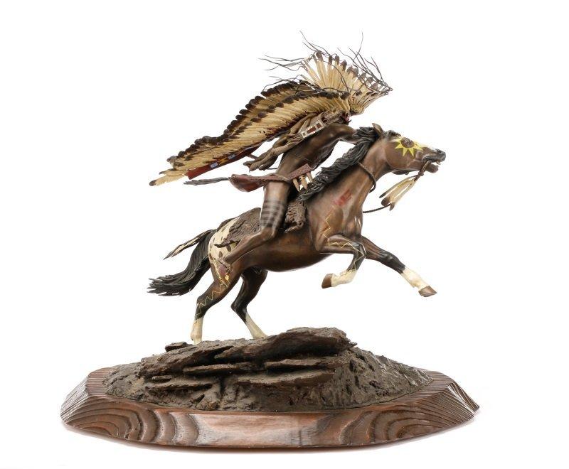 """Don Baker, """"Lakota War Cry"""", Bronze Sculpture - 4"""