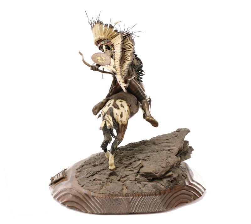 """Don Baker, """"Lakota War Cry"""", Bronze Sculpture - 5"""