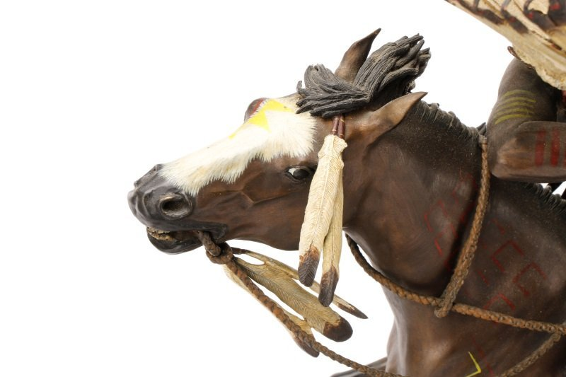 """Don Baker, """"Lakota War Cry"""", Bronze Sculpture - 6"""