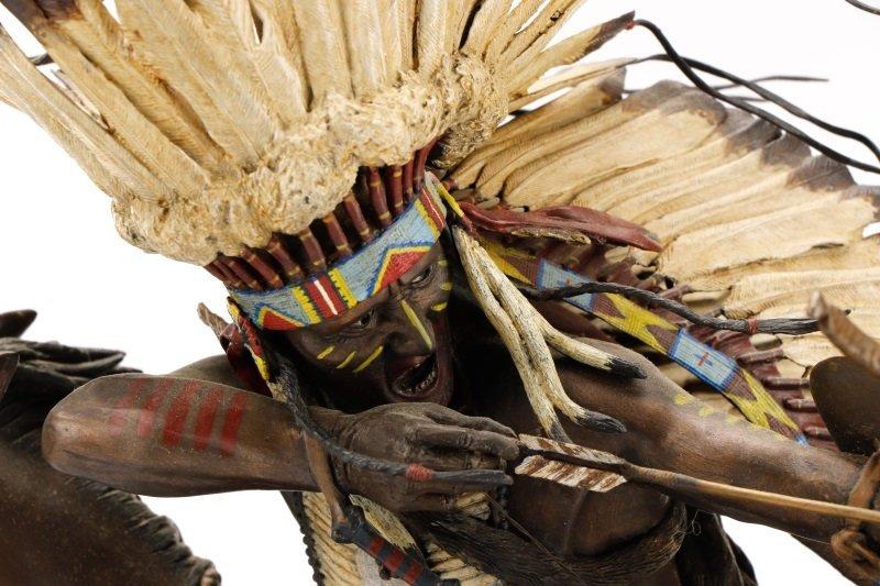 """Don Baker, """"Lakota War Cry"""", Bronze Sculpture - 8"""