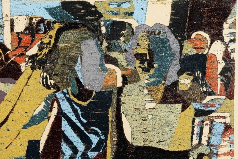 "Michael Ellison, ""The Bar"", Screen Print, 1984 - 4"
