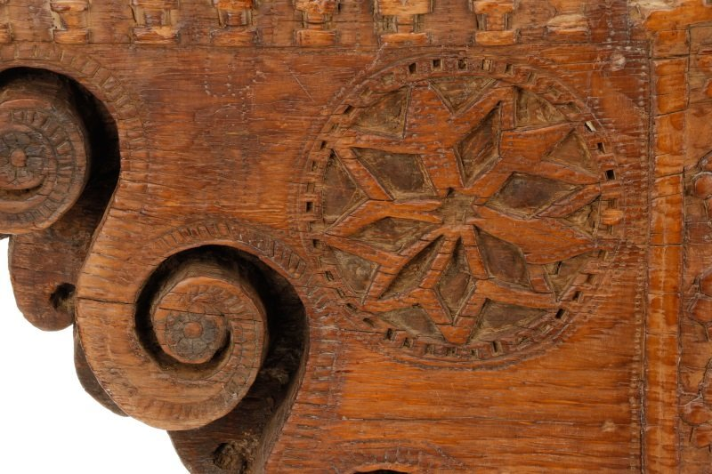 Architectural Carved Wood Fragment Console Table - 3