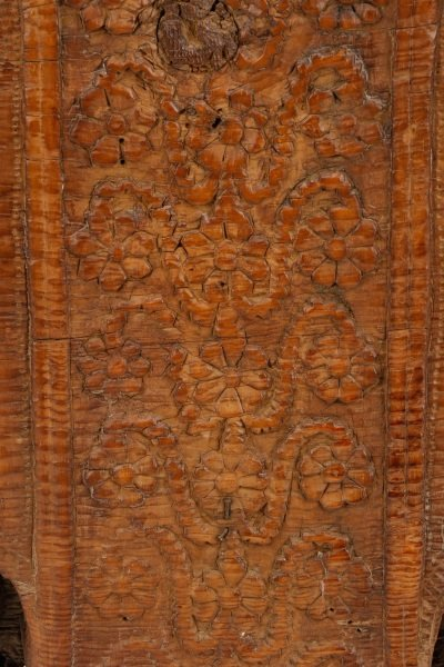Architectural Carved Wood Fragment Console Table - 4