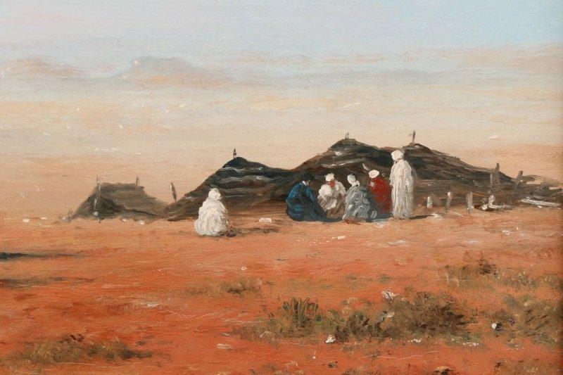 Gérard Roux, Caravane Dans Le Désert, Oil - 3