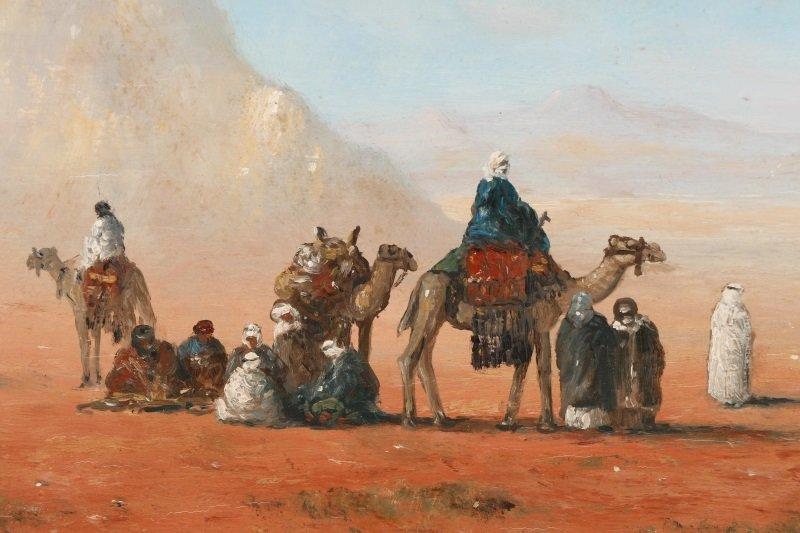 Gérard Roux, Caravane Dans Le Désert, Oil - 4