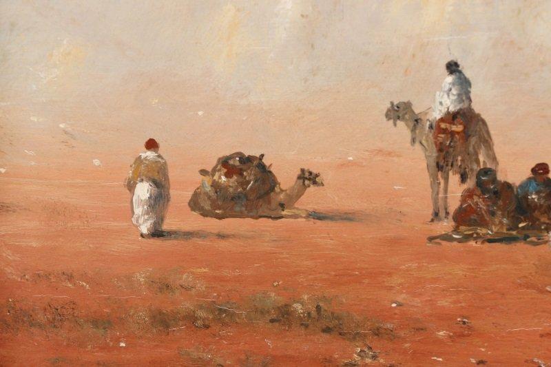 Gérard Roux, Caravane Dans Le Désert, Oil - 5