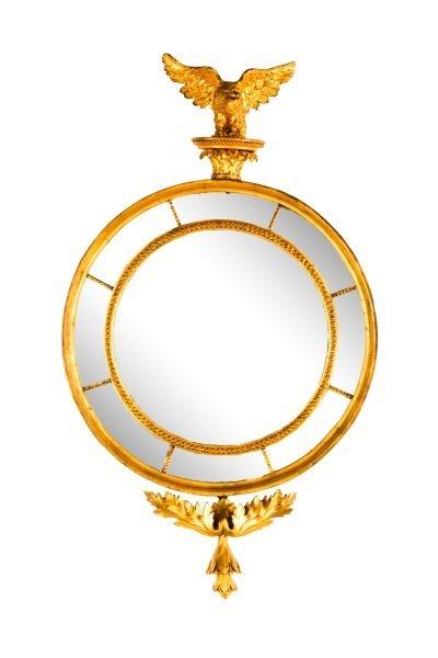American Federal Gilt Wood Mirror, Early 19th C.
