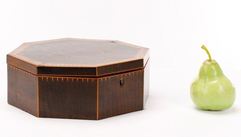 American Octagonal Sailor's Valentine Box, 19th C - 10