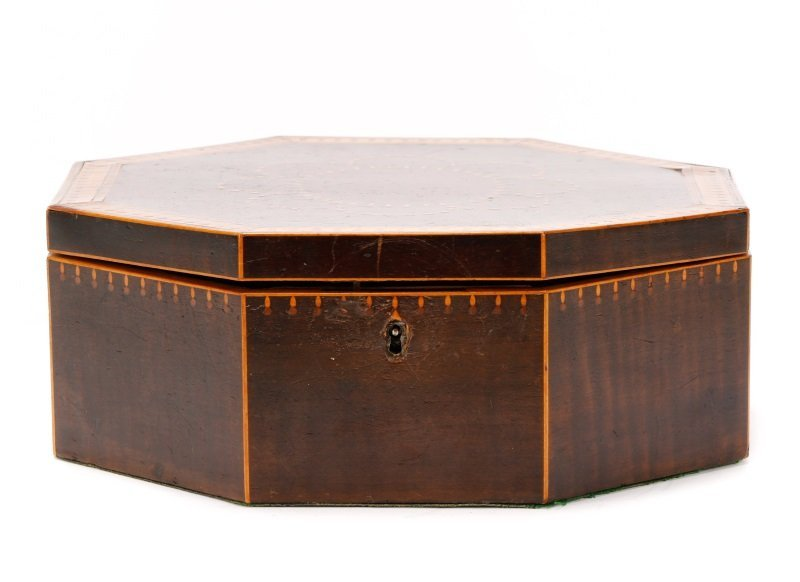 American Octagonal Sailor's Valentine Box, 19th C