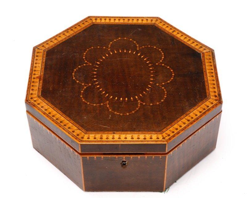 American Octagonal Sailor's Valentine Box, 19th C - 2