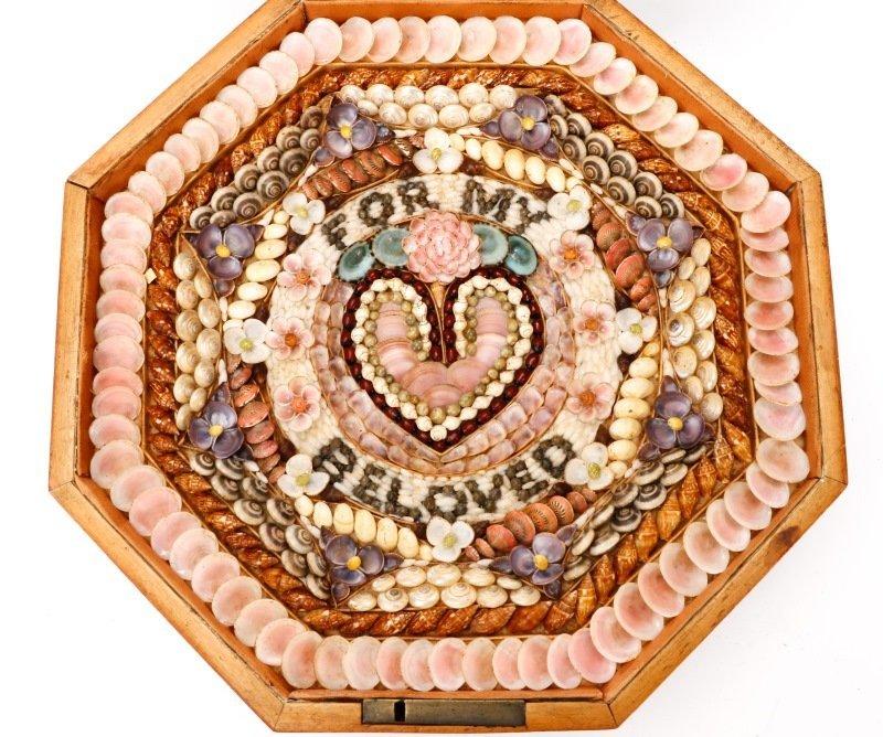 American Octagonal Sailor's Valentine Box, 19th C - 5