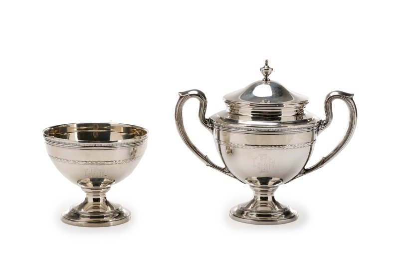 Gorham Edgeworth 5 Pc. Sterling Tea Service c.1930 - 4