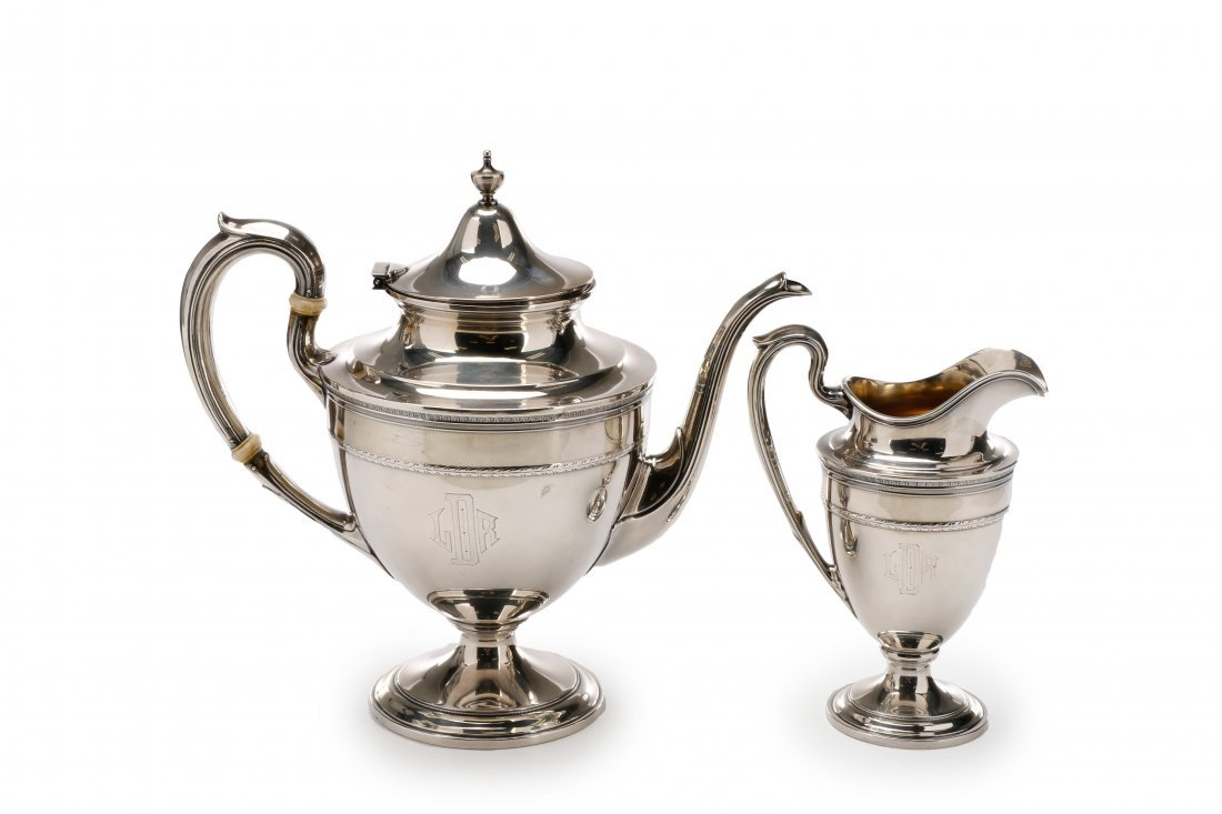 Gorham Edgeworth 5 Pc. Sterling Tea Service c.1930 - 7