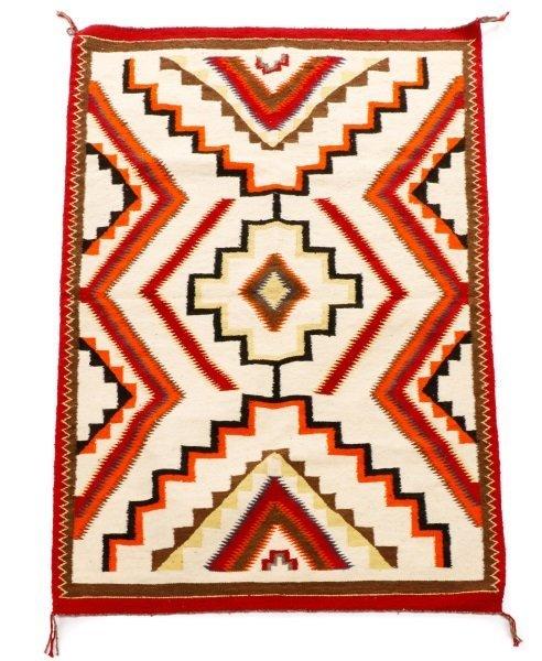 Navajo Wool Woven Regional Rug, 20th C.