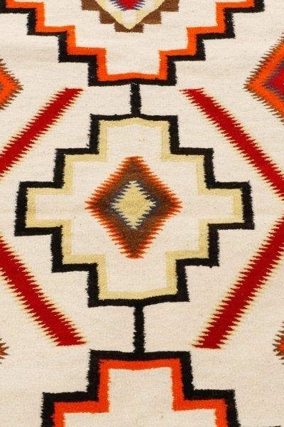 Navajo Wool Woven Regional Rug, 20th C. - 2