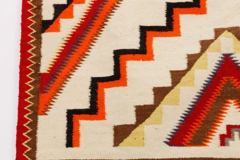 Navajo Wool Woven Regional Rug, 20th C. - 3