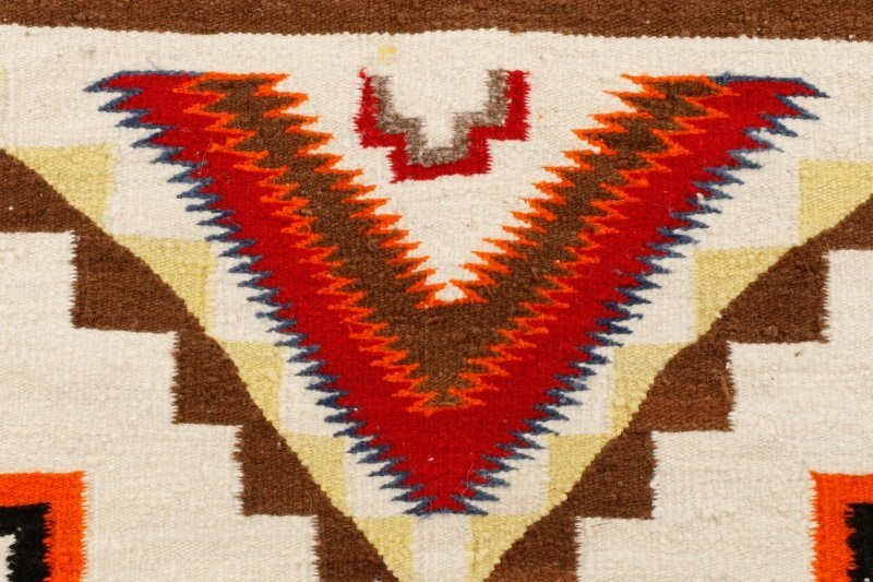Navajo Wool Woven Regional Rug, 20th C. - 4