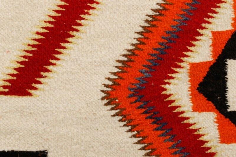 Navajo Wool Woven Regional Rug, 20th C. - 6