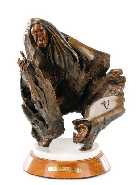 "George Beach, ""Prayer for Guidance"" Bronze"