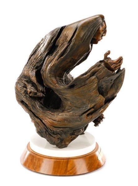 "George Beach, ""Prayer for Guidance"" Bronze - 4"
