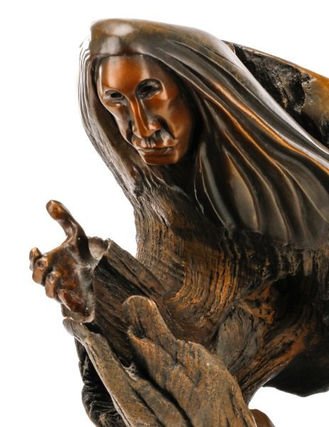 "George Beach, ""Prayer for Guidance"" Bronze - 6"