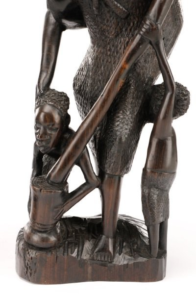 Group of 2 African Carved Ebony Figural Sculptures